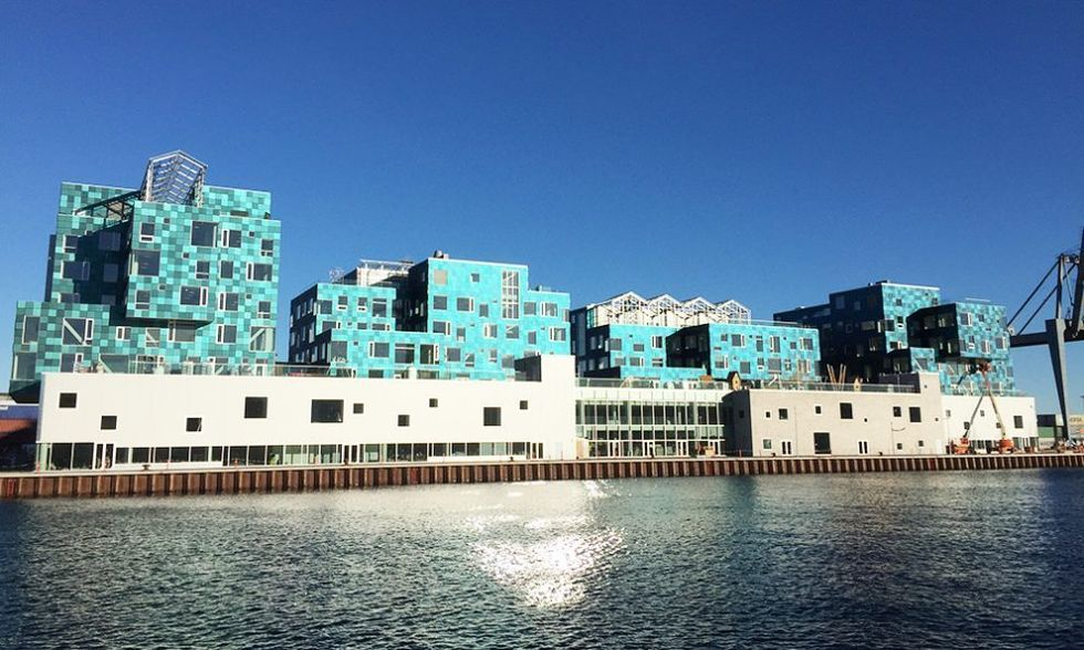 World's Largest Solar Panel Facade Powers Danish School