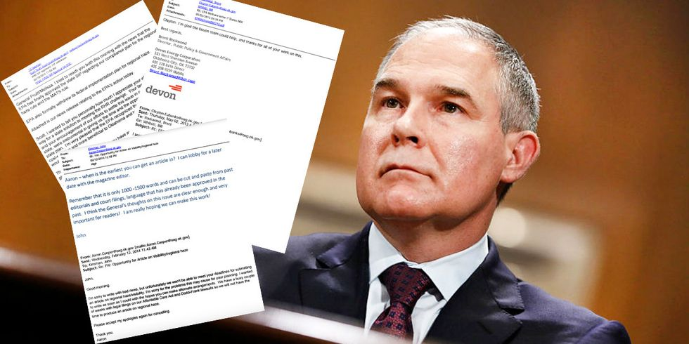 Pruitt Emails Show Cozy Ties to Fossil Fuel Industry