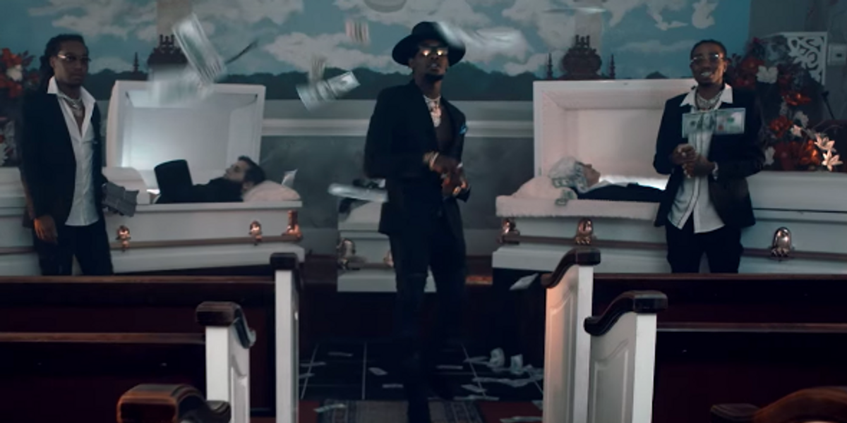 Watch Migos Make it Rain on Dead Presidents in Their New Video With 2 Chainz