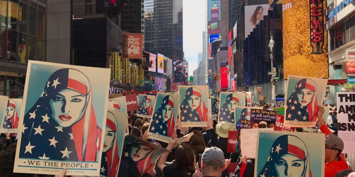 #IAmMuslimToo Rally Shuts Down Times Square
