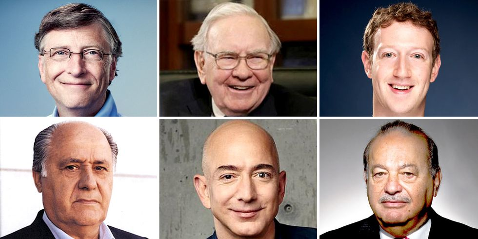 These 6 Men Have as Much Wealth as Half the World's Population