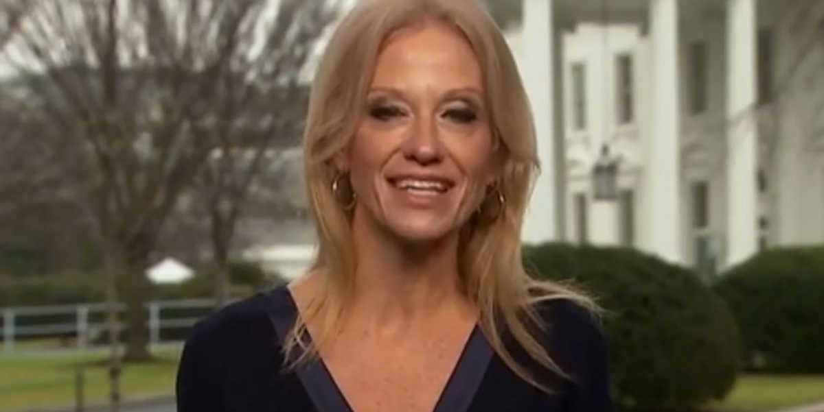 Kellyanne Conway Knelt on the Oval Office Couch and Twitter Pulled Out the Pitchforks