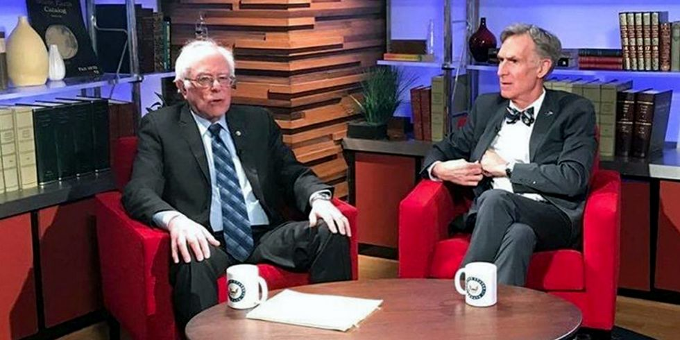 Bernie Sanders and Bill Nye Defend Climate Science, Explain How Renewables Can Power America