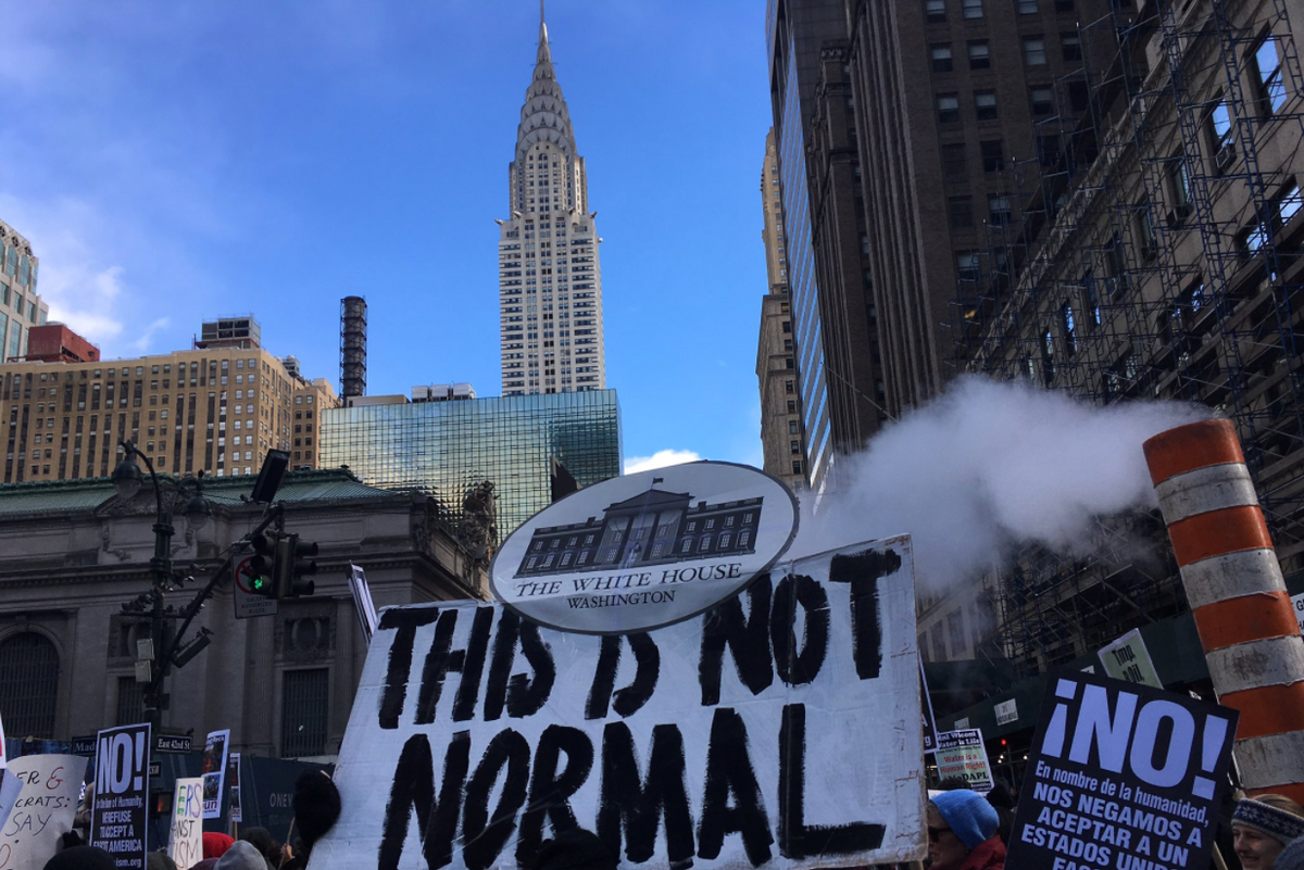 #NoDAPL Protesters March Through NYC to Trump Tower
