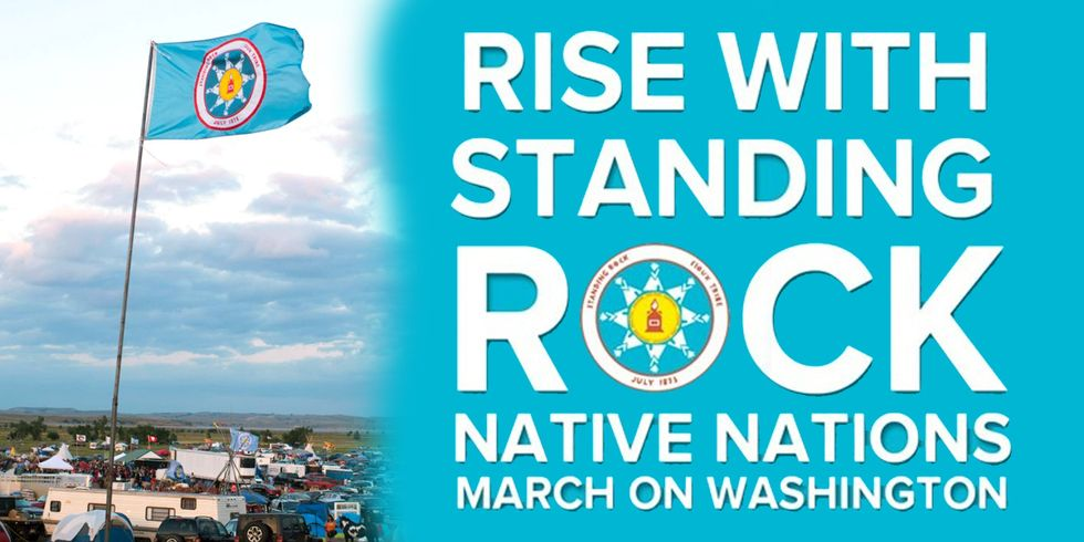 Native Nations Gather in DC for 4-Day Protest Against Trump, DAPL