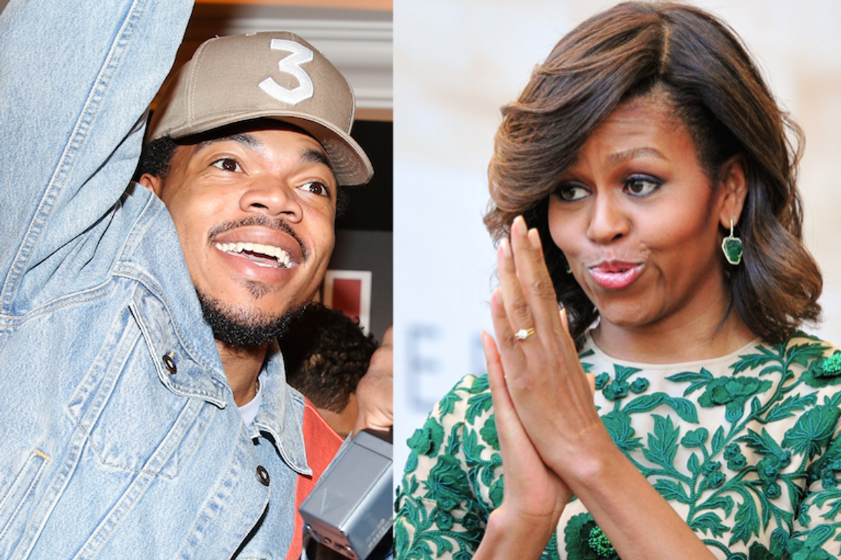 Michelle Obama Commends Chance the Rapper For Donating $1 Million to Chicago