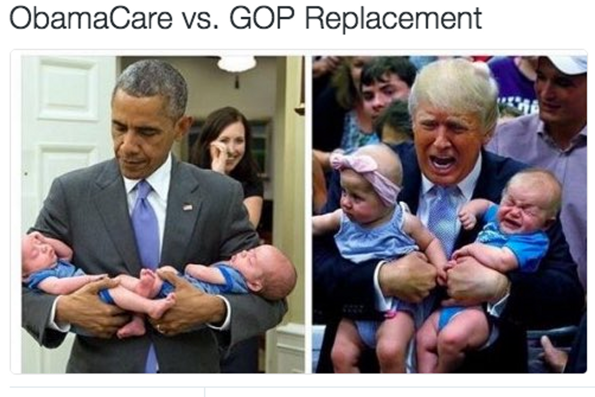 'Obamacare vs GOP Replacement' Memes Are Everywhere and They're Amazing
