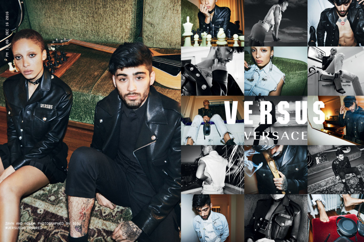 Versace's New Campaign Shot by Gigi Hadid and Starring Zayn Malik Has Arrived