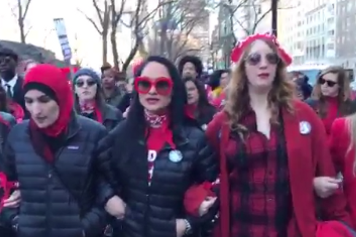 UPDATE: Police Arrested 13 Women at Strike Marches in New York City