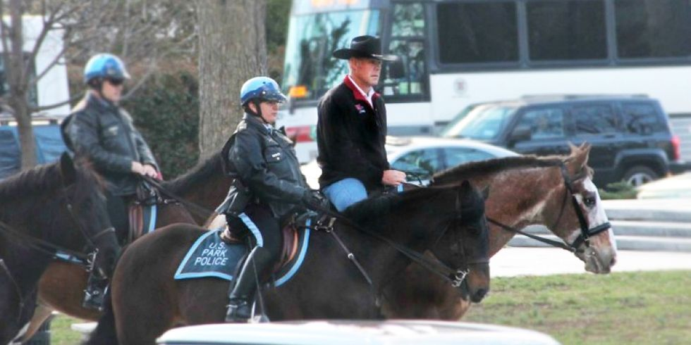 Zinke Rides to Work on Horse for First Day in Office Then Repeals Rule Protecting Wildlife From Lead Poisoning