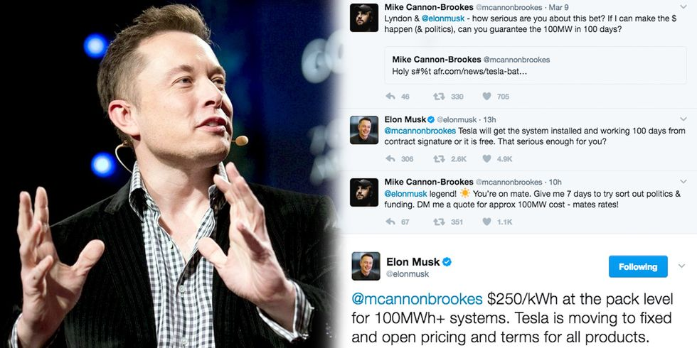 Elon Musk Tweets Offer to Fix Australia's Energy Crisis in 100 Days