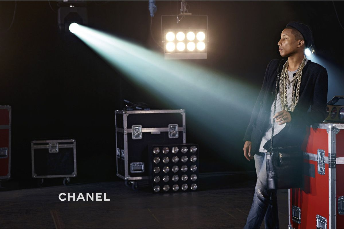 Pharrell is Chanel's First Male Handbag Campaign Star