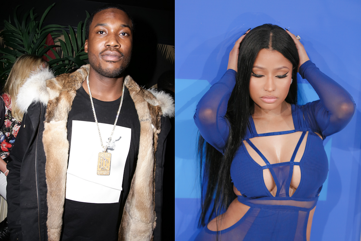 """Nicki Minaj Is Apparently """"Embarrassed"""" for Meek Mill and His """"Ridiculous"""" Airport Assault"""