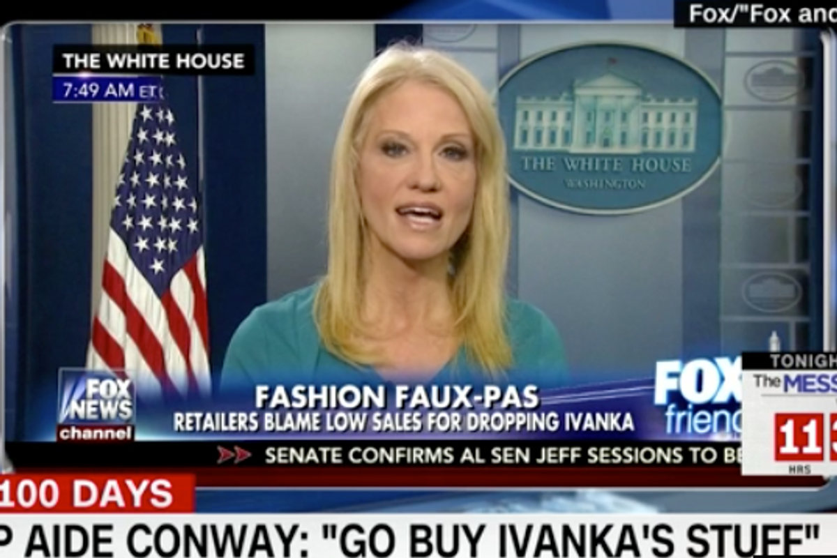 "Ivanka Trump's Line Had One of its ""Best Weeks in History"" After Kellyanne Conway's Plug"