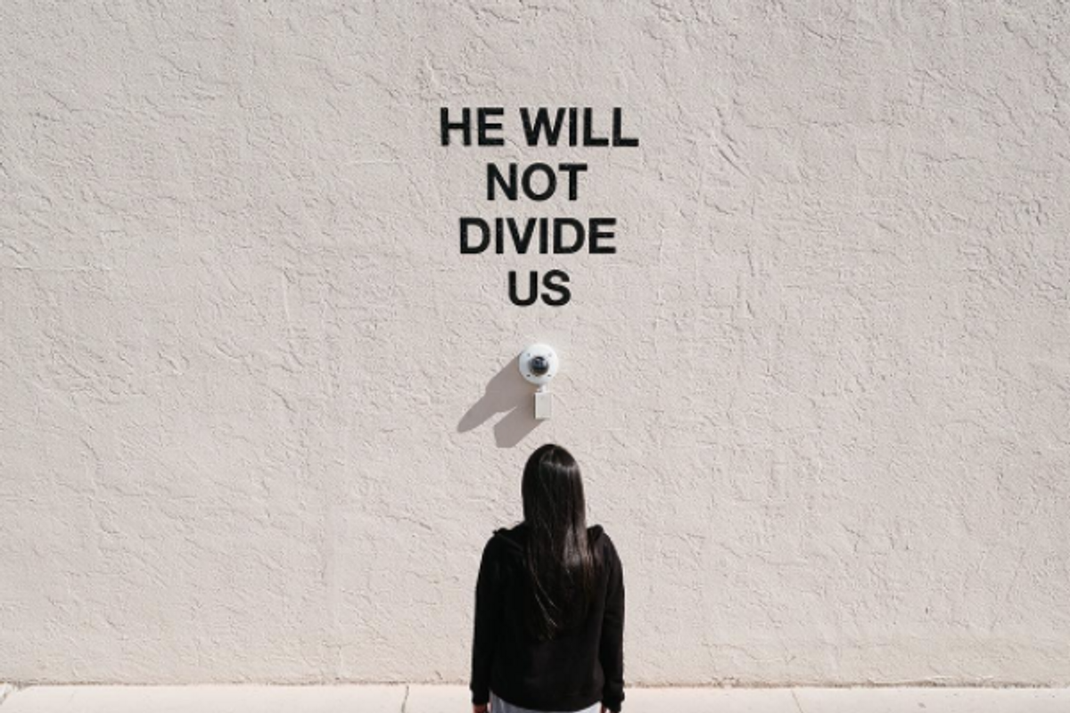 """Shia LeBeouf Relocates """"He Will Not Divide Us"""" Again, This Time to Liverpool"""
