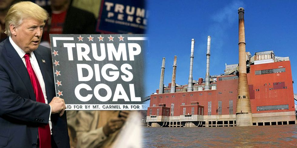 Trump Promises to Bring Back Coal as Two More Coal Plants Set to Retire