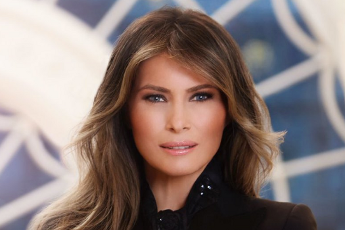What is Going Through Melania Trump's Mind in Her First Official White House Portrait?