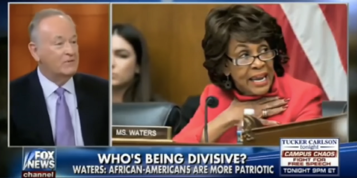 UPDATED: Bill O'Reilly Mocked Rep. Maxine Waters' Hair and the Internet Is Not Having It