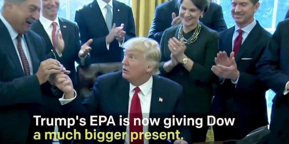 A Pen Isn't the Only Gift Trump Gave Dow Chemical