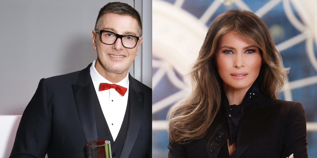 Stefano Gabbana Is (Unsurprisingly) Thrilled That Melania Trump Wore Dolce & Gabbana in Official White House Photo