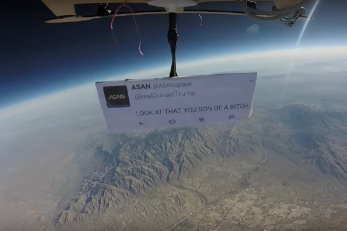 Protest Targets Trump From Outer Space