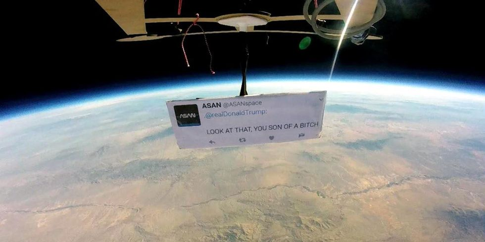 'First Protest in Space' Slams Trump With Astronaut's Famous Quote