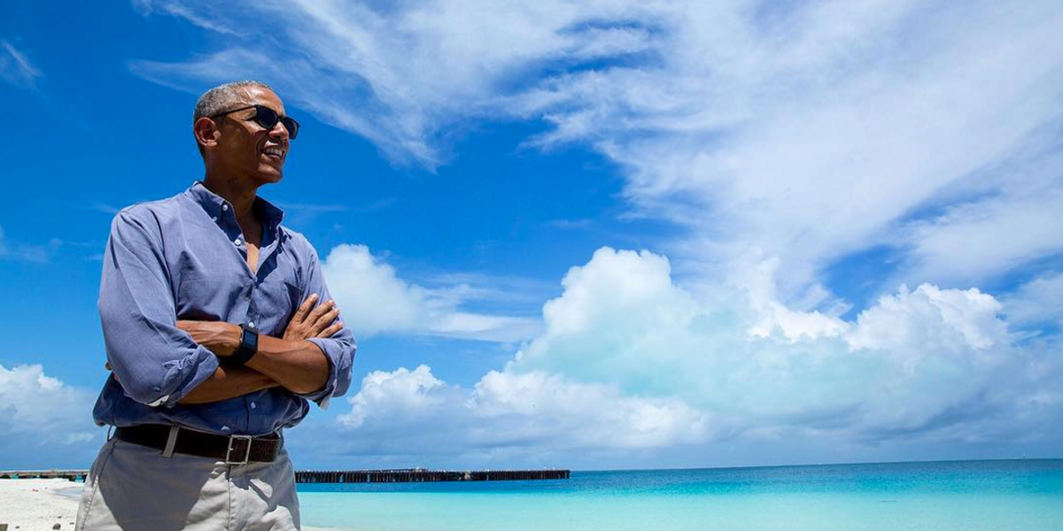 The Obamas Are Having the Best Time on Vacation with Oprah and Tom Hanks