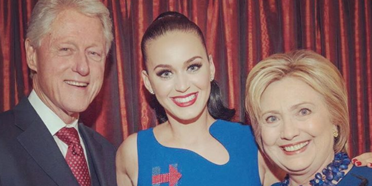 Katy Perry Designed a Pair of Lucite Heels for Hillary Clinton Who Couldn't Be Happier