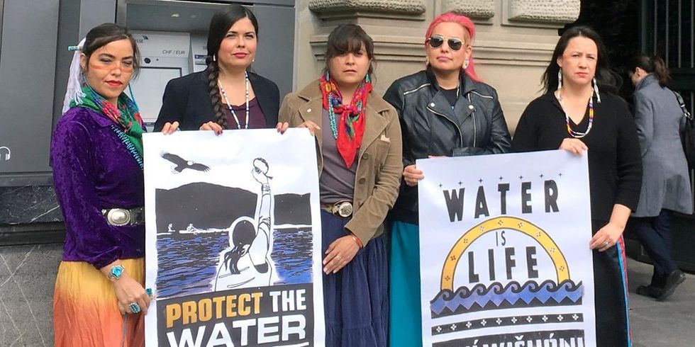 Indigenous Women of Standing Rock Resistance Movement Speak Out on Divestment