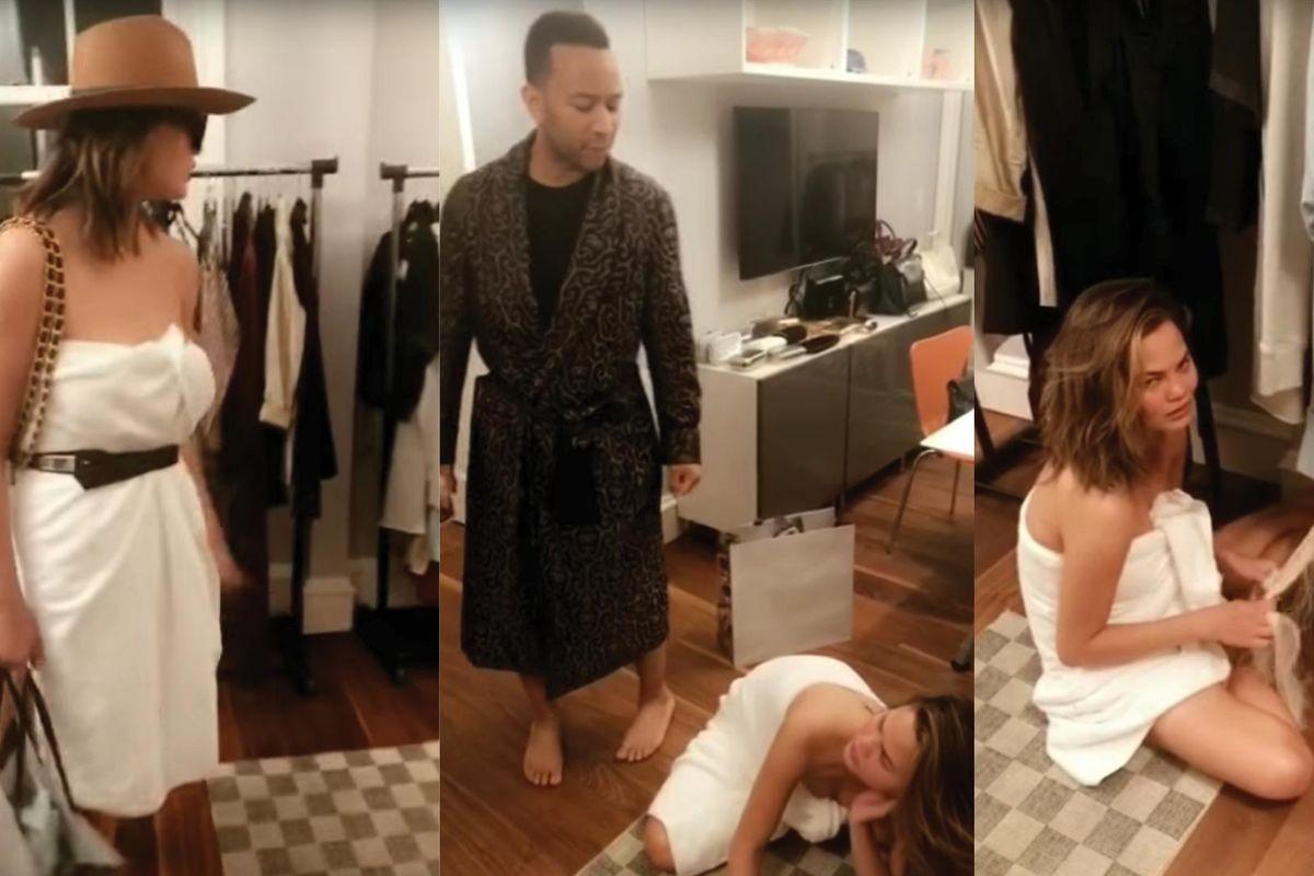 Watch Chrissy Teigen And John Legend Reenact 'The Devil Wears Prada' On Snapchat