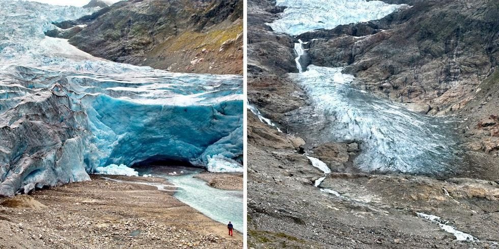 Earth's Melting Glaciers Captured in Stunning Before-and-After Images