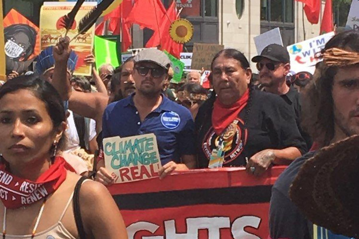 Leonardo DiCaprio Marched on Washington with the People's Climate March