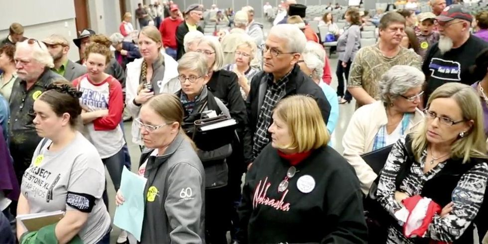 10-Hour Keystone XL Hearing Gets Huge Turnout