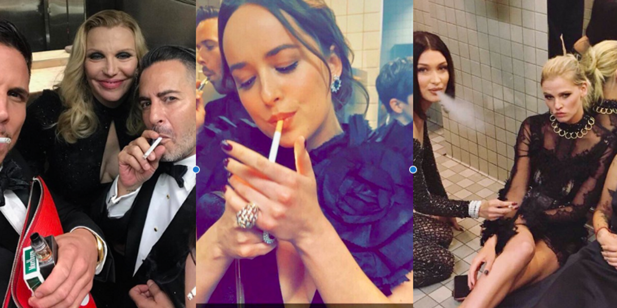 The Met is Very, Very Upset 'Celebrities' Had the Nerve to Smoke in Their Precious Bathroom