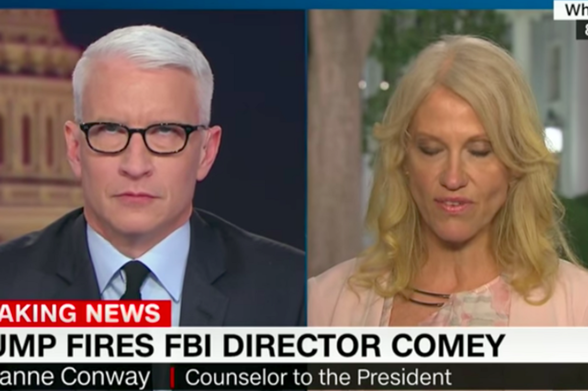 Kellyanne Conway Caught Anderson Cooper's Eye Roll, Claims He's Sexist