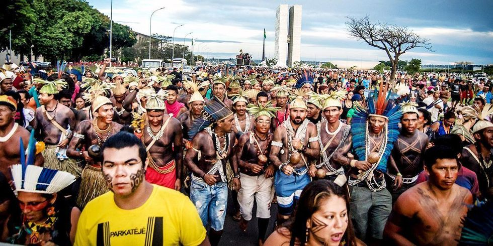 Indigenous Peoples' Protest in Brazil Met With Police Brutality