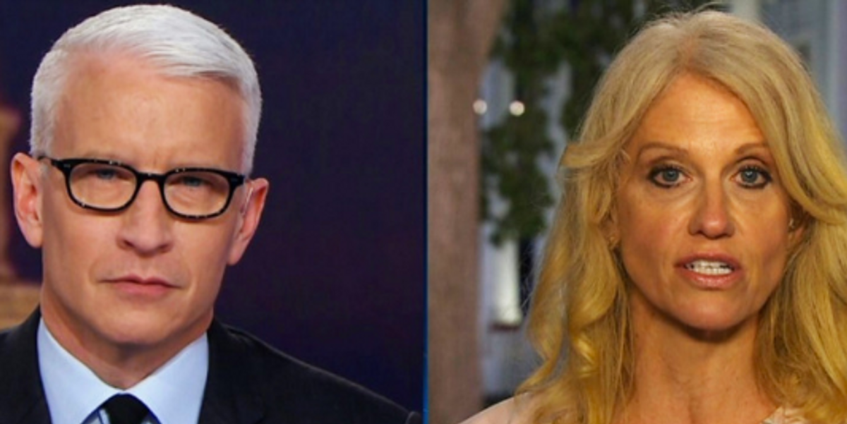 Anderson Cooper Rolling His Eyes at Kellyanne Conway's Defense of Trump is All of Us