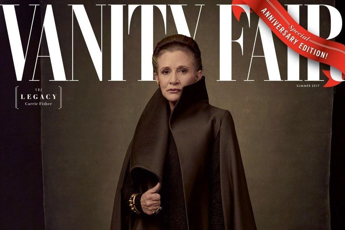 "Queen Carrie Fisher Gets Her Final Cover For ""The Last Jedi"" with Vanity Fair"