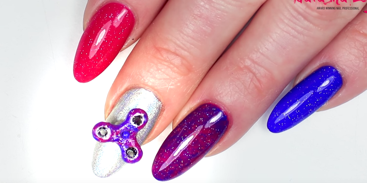 The Fidget Spinner Manicure Has Arrived Just In Time For The Fall Of Western Civilization