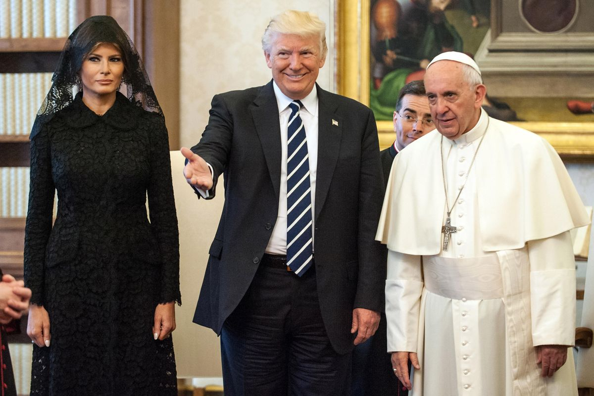 The Internet Reacts To Trump's Awkward Meeting With The Pope