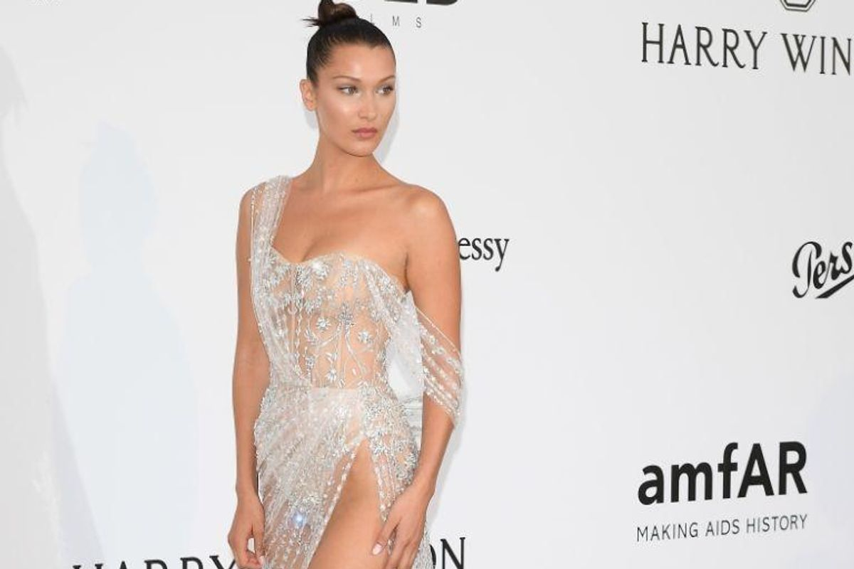 Bella Hadid Wins Cannes for the Second Year in a Row, This Time in an Ice Dress