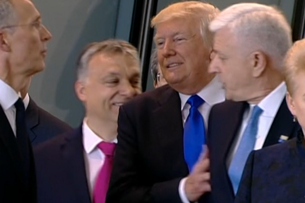 Trump Shoved a Prime Minister Aside to Get to the Front of the Group, Proving He Really is a Child