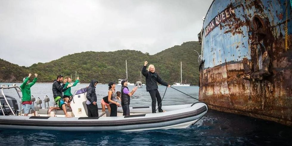 Watch Richard Branson Sink This WWII Ship and Giant Steel Octopus