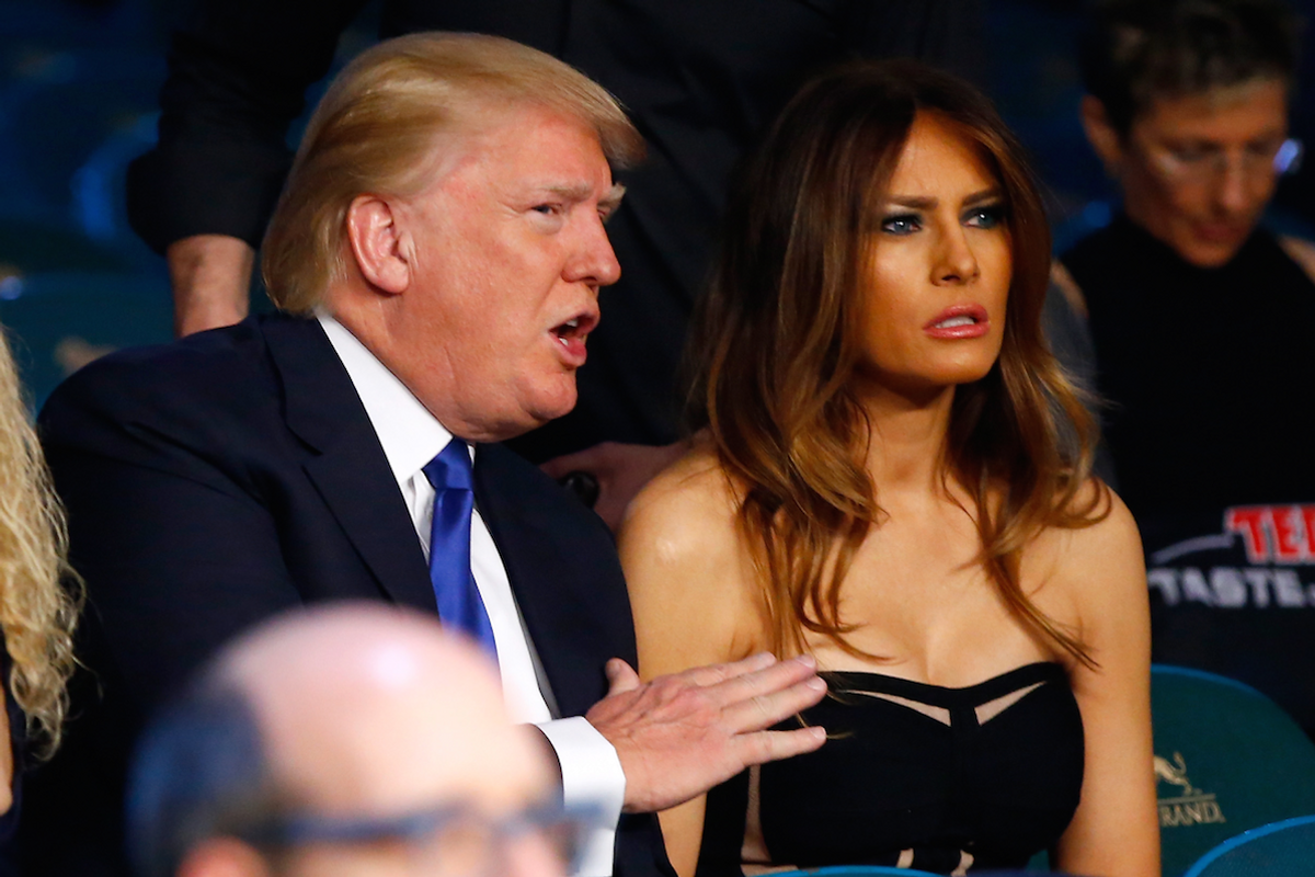 Watch Melania Smack Away Donald's Hand When He Tries to Hold it