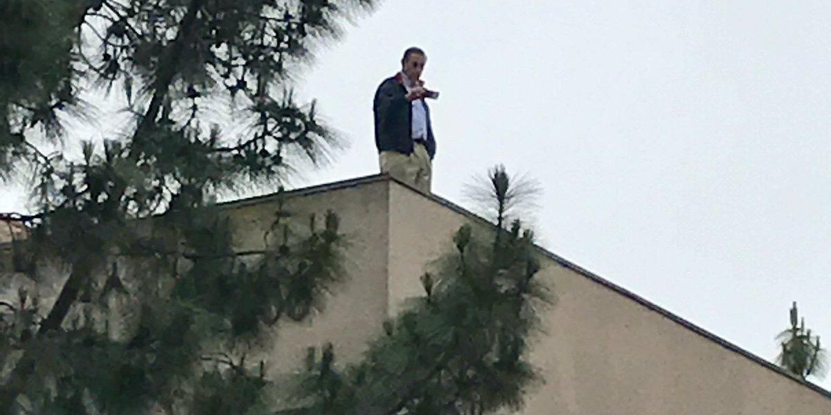 Wow, Here is a GOP Congressman Literally Hiding on the Roof to Avoid Angry Constituents