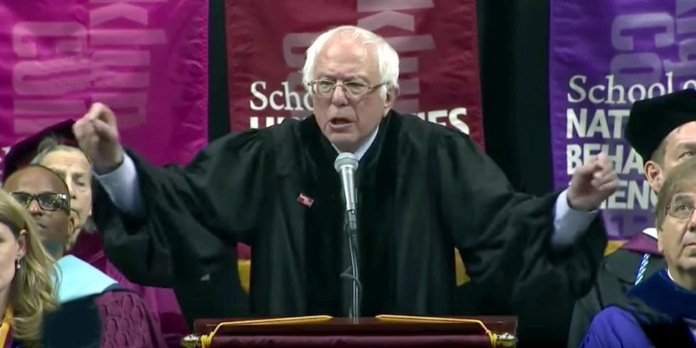 Bernie Sanders to College Graduates: Take on the Fossil Fuel Industry, Transform Our Energy System