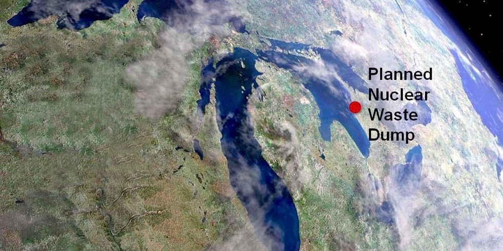 Utility Refuses to Budge on Placing Nuke Waste Dump on Shore of Great Lake Despite Objections From 200 Communities