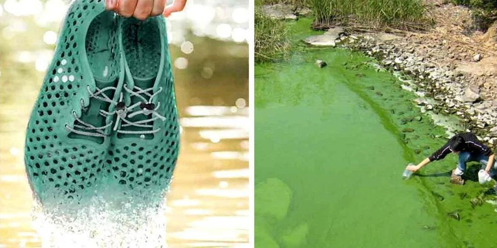 How These Shoes Are Helping Clean Up This Lake