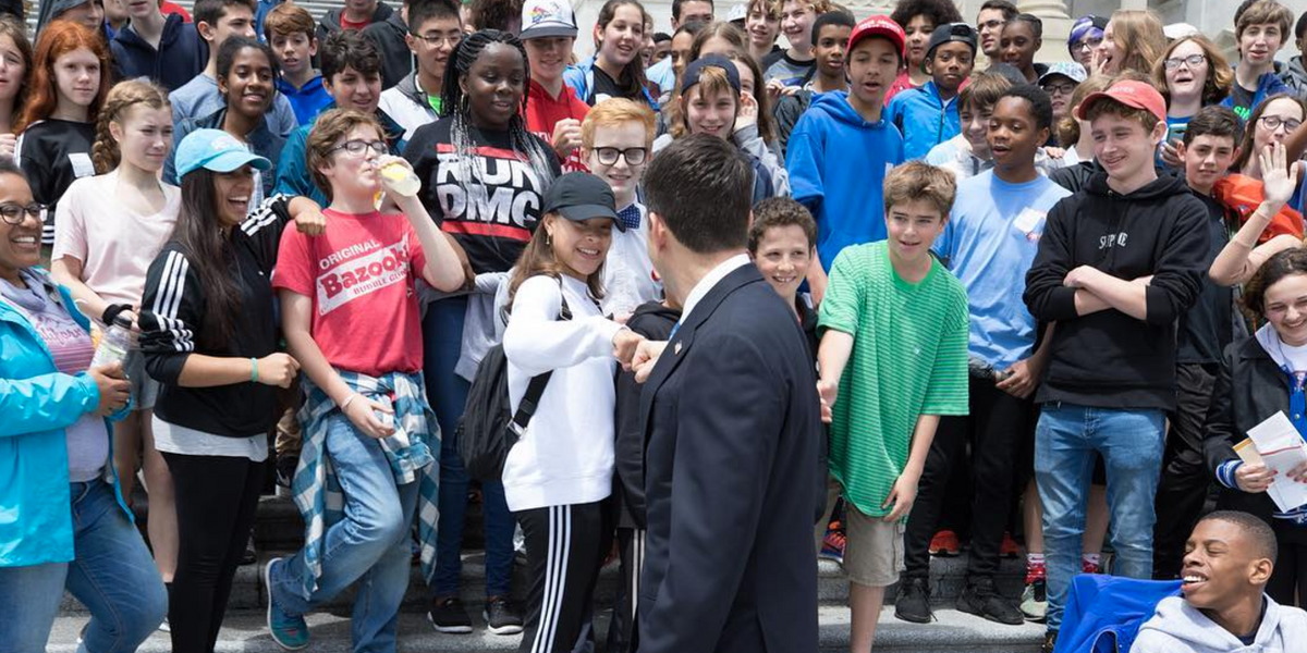 These Eighth Graders Refused to Pose For a Photo With Paul Ryan