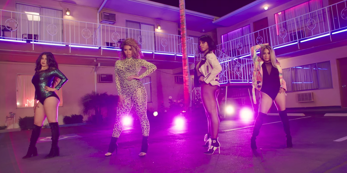 """Fifth Harmony Writhe Atop Seedy Motel Beds for New """"Down"""" Video with Gucci Mane"""